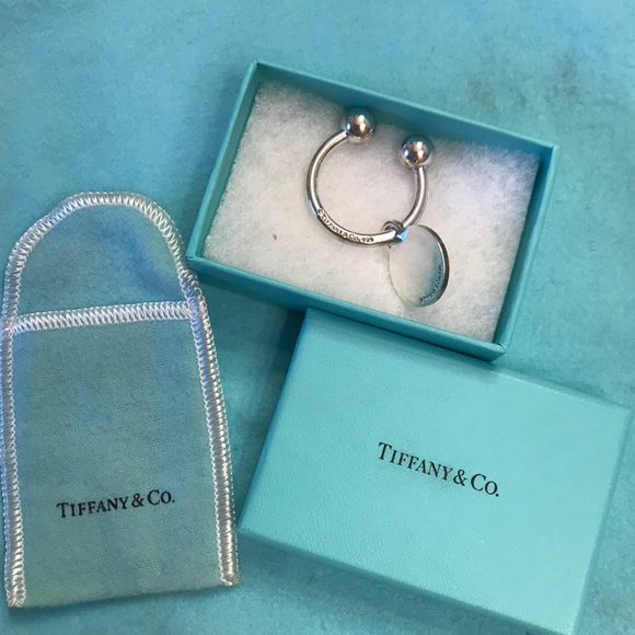 b6b469f19 Tiffany & Co. Accessories | Tiffany Round Tag Key Ring | Poshmark